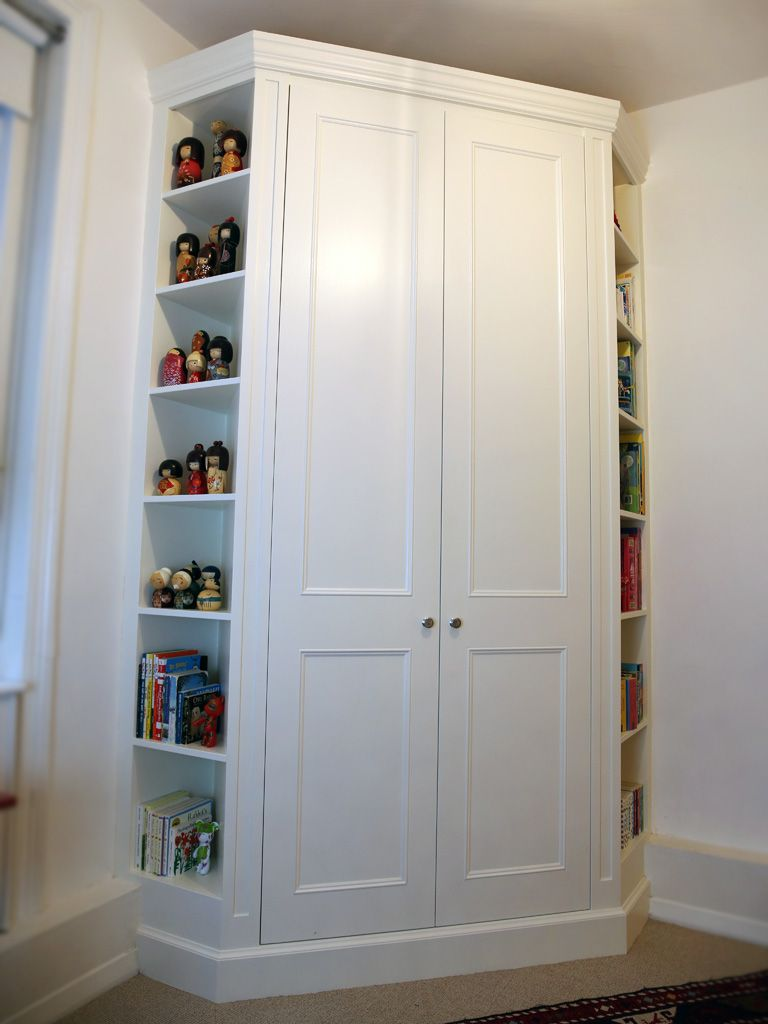 Kids Fitted Bedroom Furniture Floor To Ceiling Fitted Wardrobes With Desk Area In White Satin