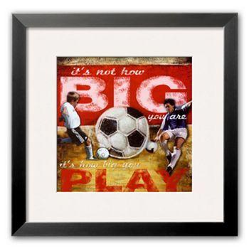 Art.com Big Play: Soccer Framed Art Print by Robert Downs