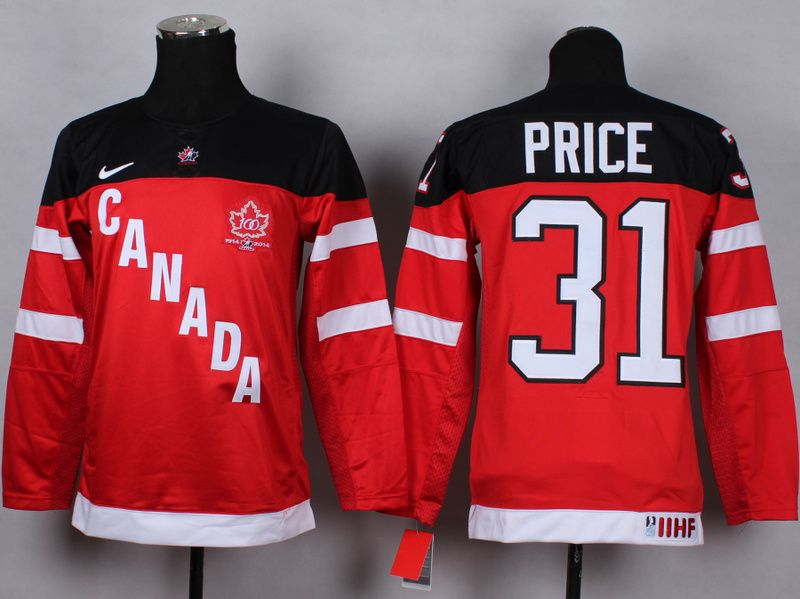 3049e2bfd NHL 2014 Team Canada 31 Carey Price red 100th Jerseys