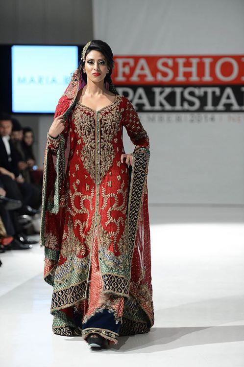 New York Pakistan Fashion Week Maria B Dress 2015 Pakistani Bridal Couture Pakistani Bridal Dresses Pakistan Fashion