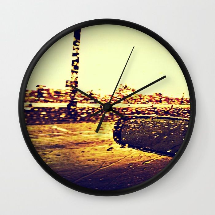 Motion Blur Sunshower Wall Clock   Art Prints and Products ...