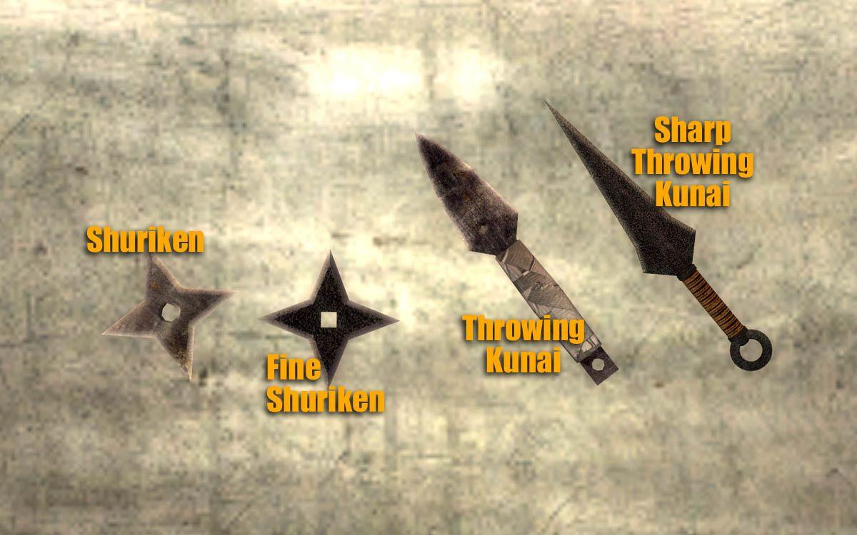Shuriken Kunai Used By Npcs Shuriken Fallout Mods Kunai