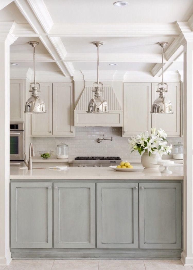 Best Fabulous Polished Nickel Pendants Above Kitchen Island 400 x 300