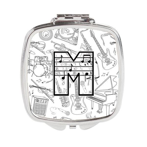 Letter M Musical Note Letters Compact Mirror CJ2007-MSCM