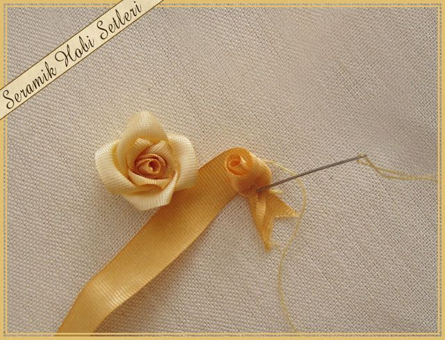 How To Make A Ribbon Rose A Great Photo Tutorial Tutorials