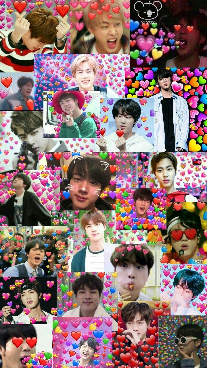 Wallpaper Jin Bts Memes Bts Emoji Bts Walpaper Bts Wallpaper Bts cute memes wallpaper