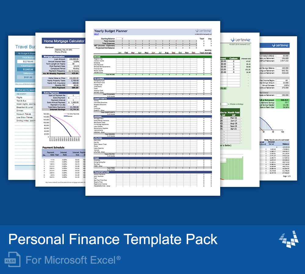 Personal Finance Template Pack With Images Personal Finance