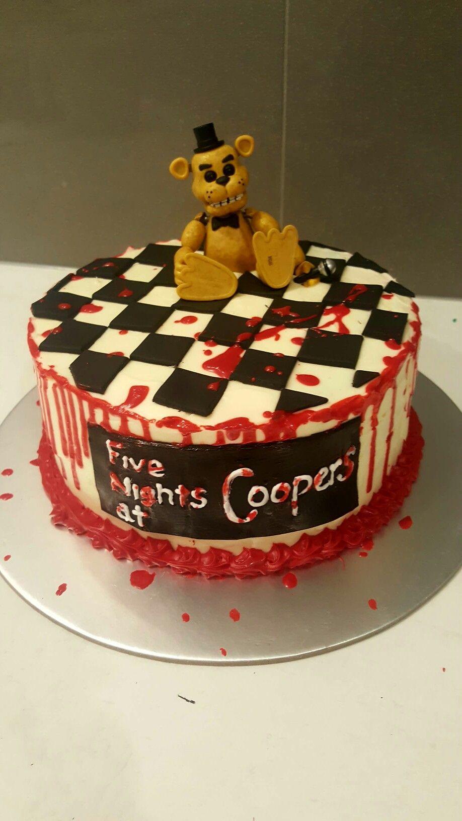 Five nights at freddys cake fnaf cakes birthdays fnaf