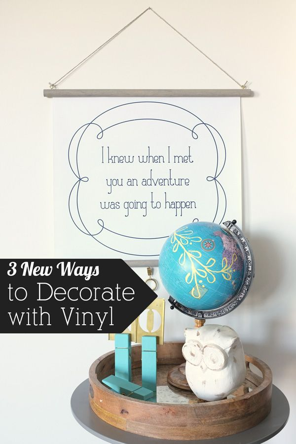 Create art with vinyl decals