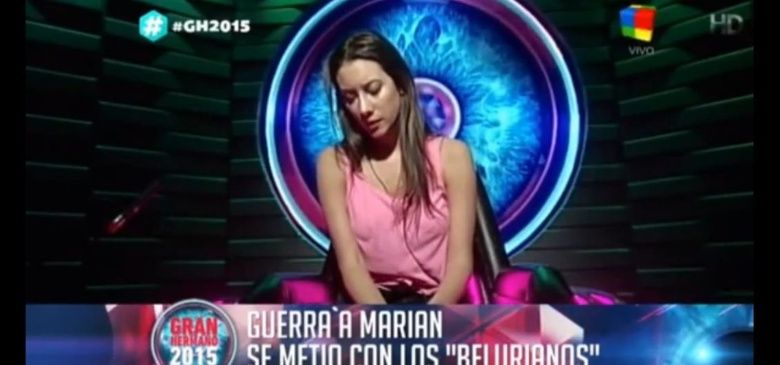 """#GH2015: Belén, contra Marian: """"Me dan miedo las cosas que está haciendo"""""""