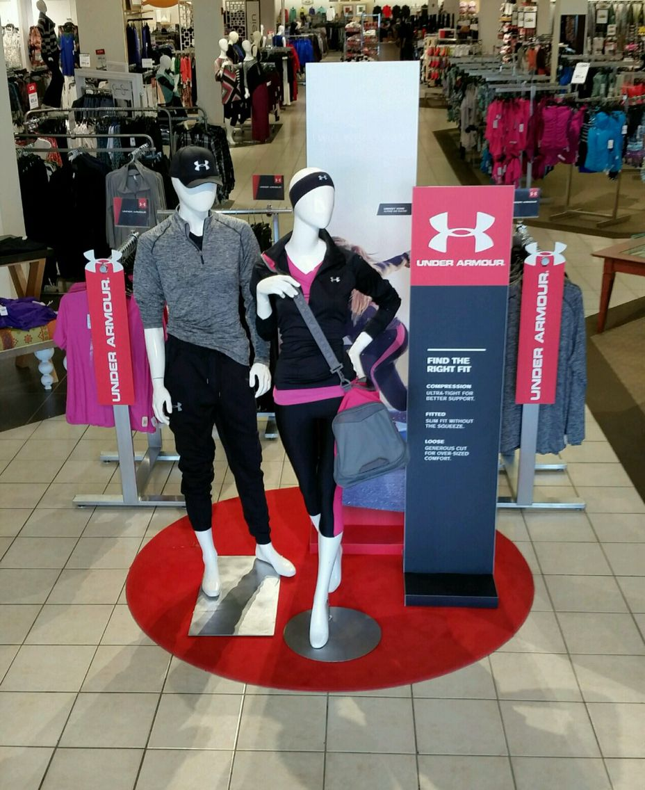 Under Armour brand launch - entrance display.