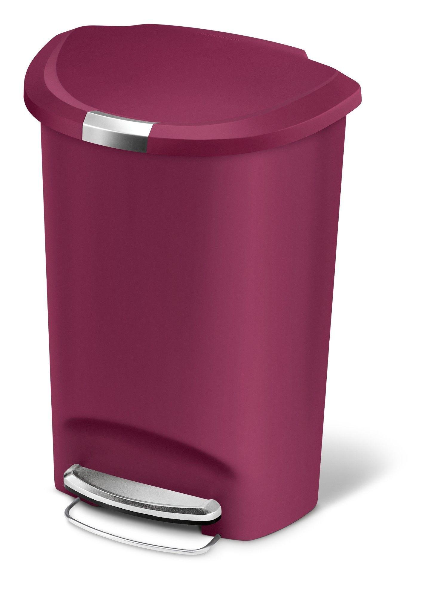 Simplehuman Plastic Step On 13 Gallon Trash Can Trash Can Simplehuman Kitchen Trash Cans Simple human trash can 13 gallon