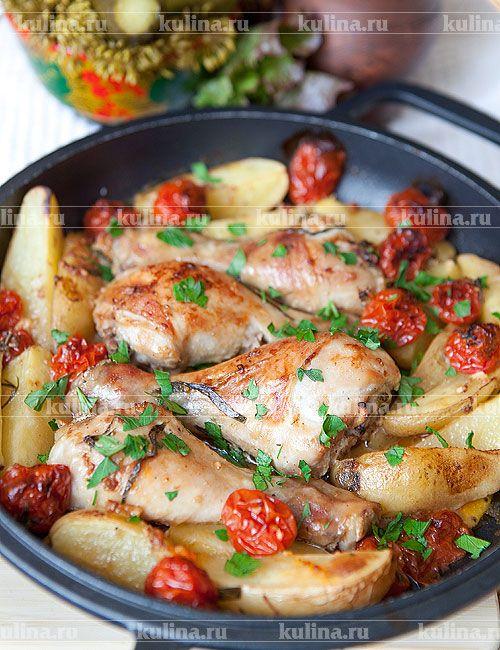 Запеченные куриные голени в духовке рецепт пинтерест