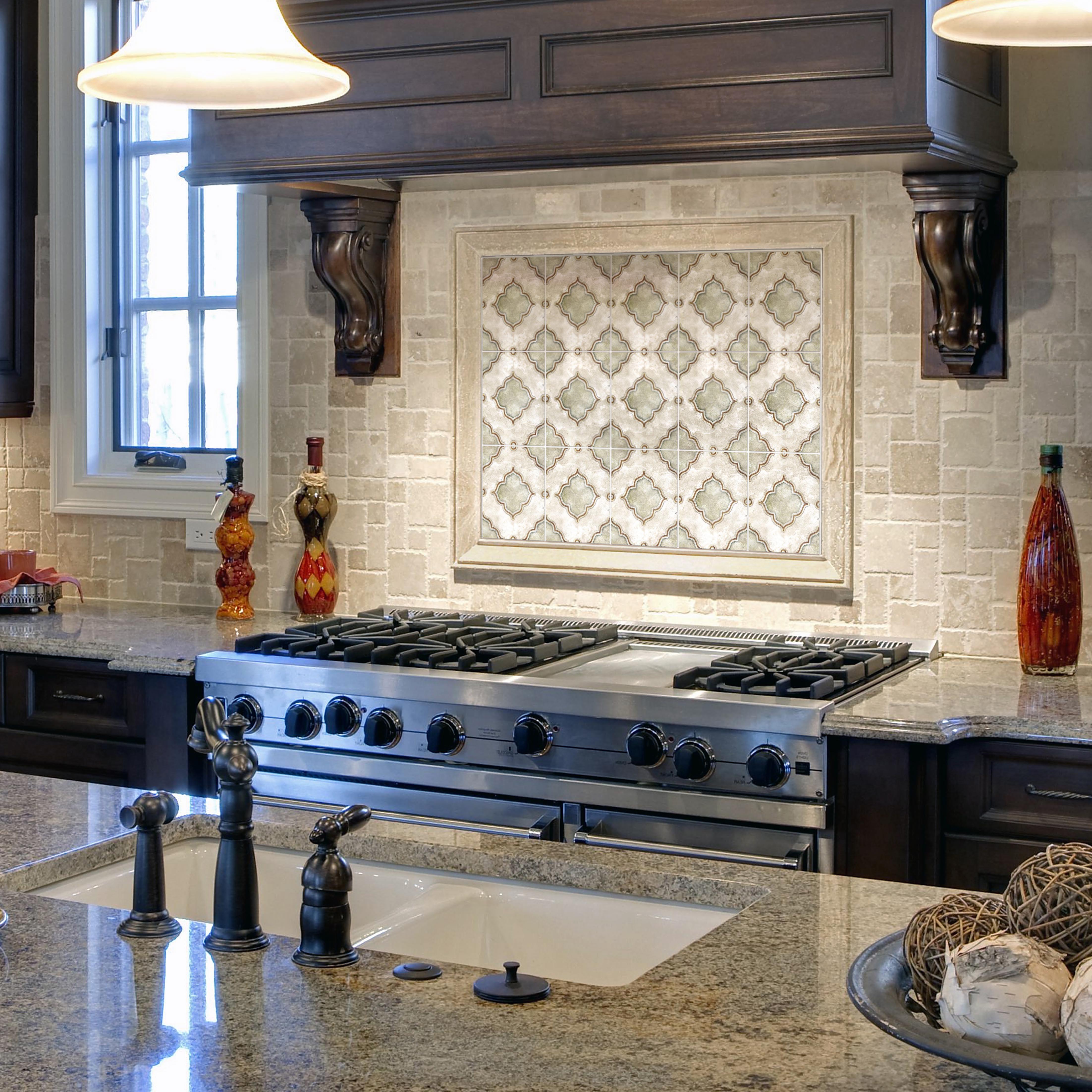 The Kensington Pattern From The Artisan Stone Tile Durango Enchanting Kitchen Backsplash Designs Pictures Design Ideas