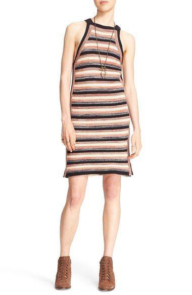 FREE PEOPLE 'Retro Ruby' Stripe Crochet Dress. #freepeople #cloth #
