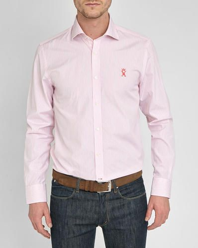 #White/pink pr palm beach regular fit shirt  ad Euro 59.40 in #Vicomte a #Abbigliamento camicie camicie
