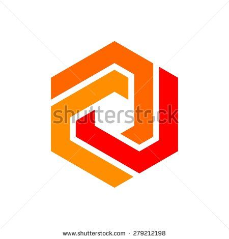 Icon Logo Template Hexagon Element Hexagram Symbol Stock