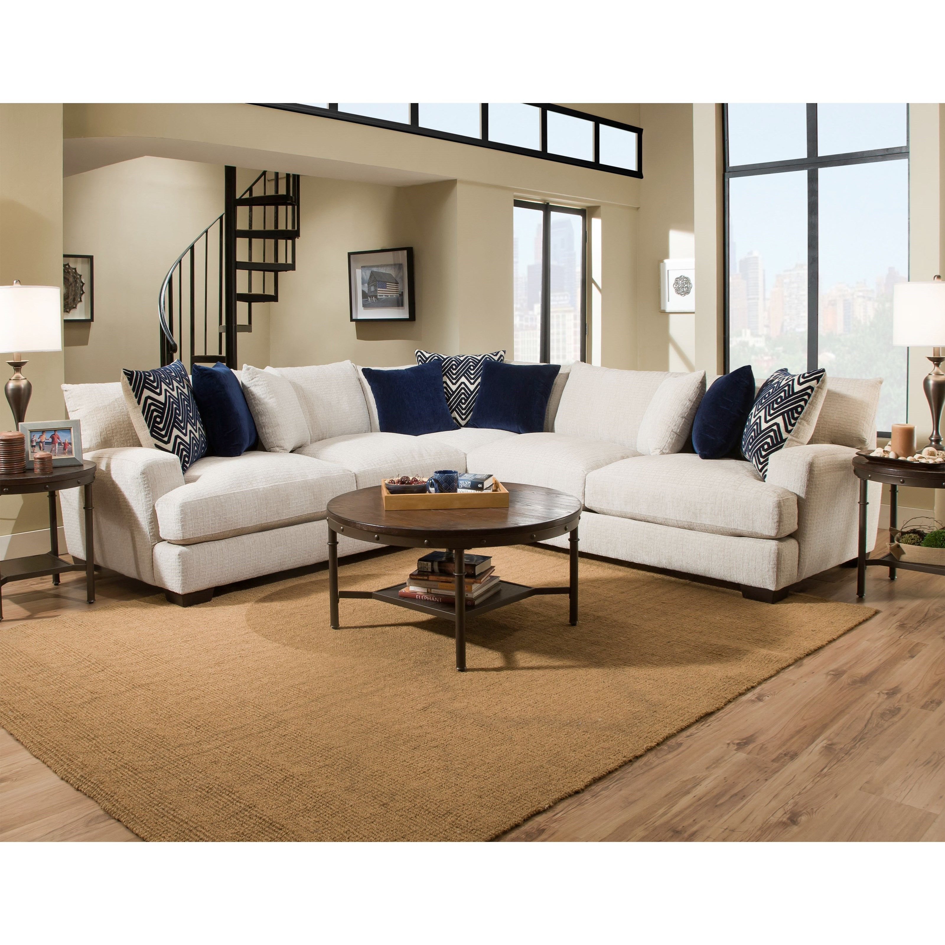 1600 4 Seat Sectional By American Furniture At Darvin Furniture
