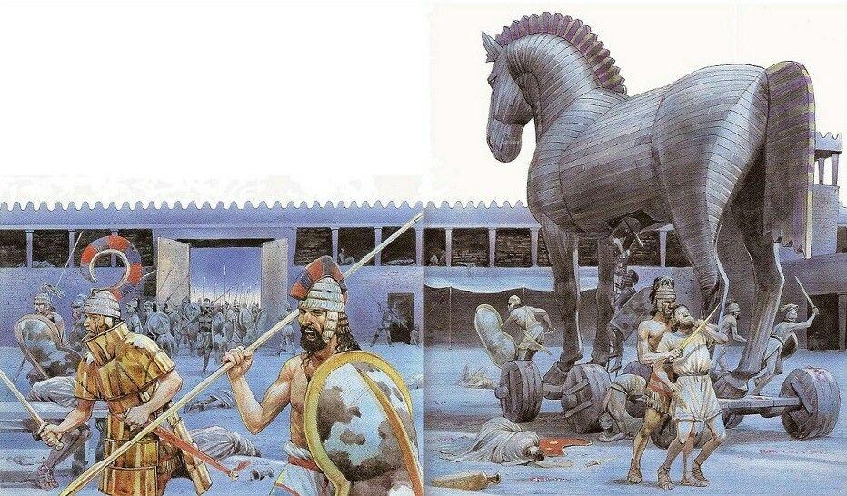 Gregos dentro de Tróia