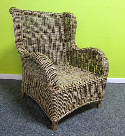Rattan High Back Wing Chair By Dutch Connection. Www.dutchconnection.co.uk