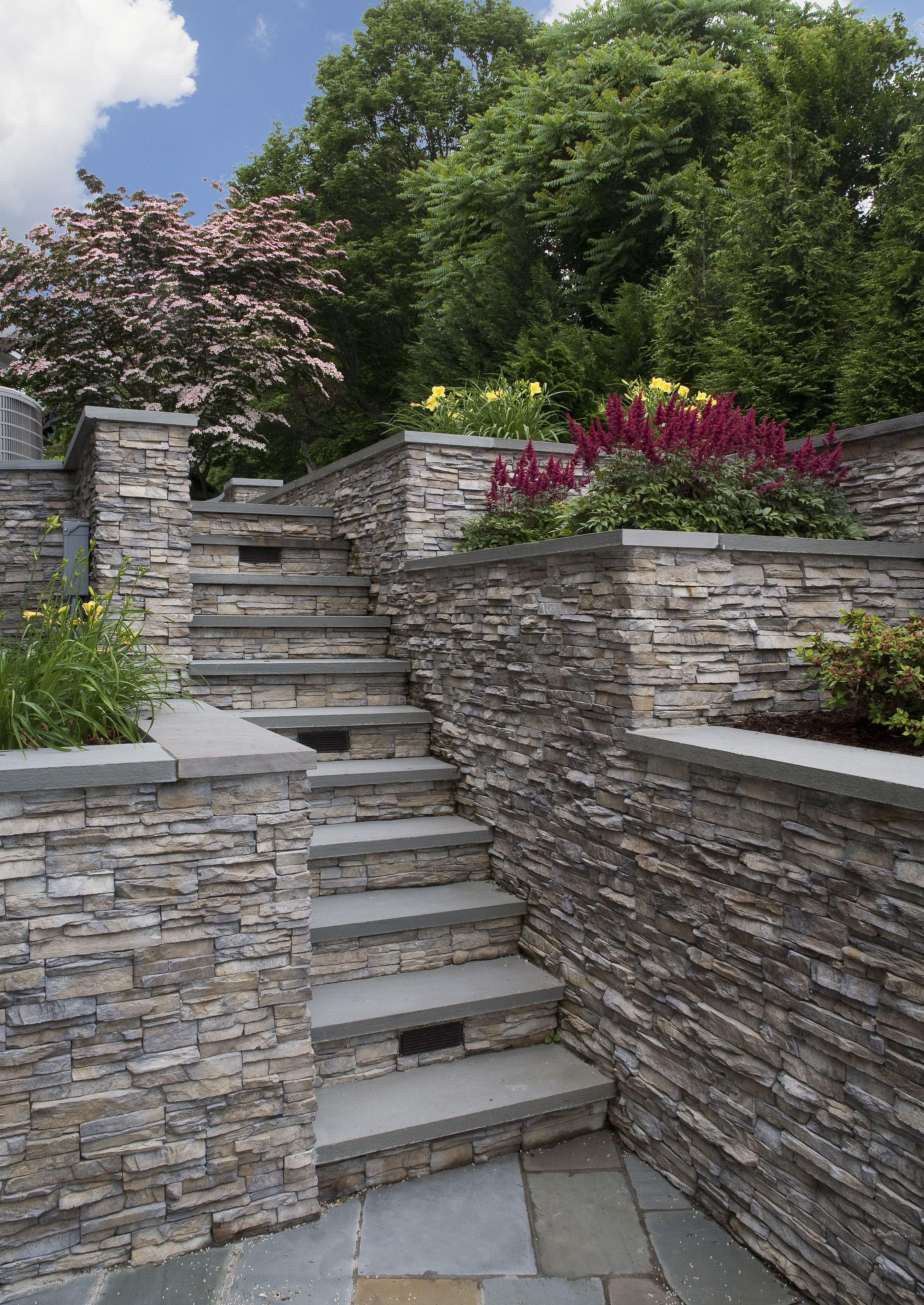 Eldorado Stone Featured Nantucket Stacked Stone Stone Landscaping Eldorado Stone Stacked Stone Walls