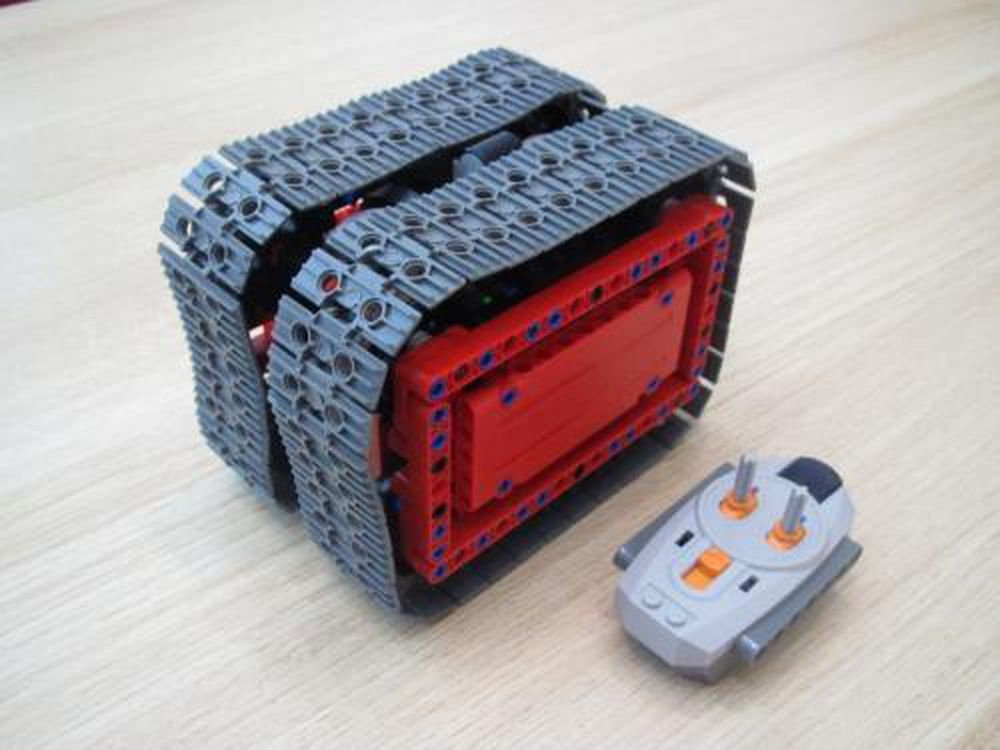 Compact Tracked Cube (RC) Cube, Lego moc, Compact
