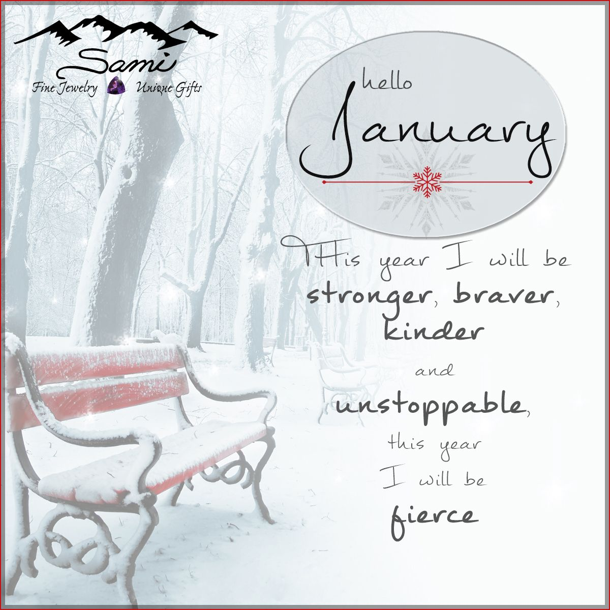"Hello January! ""'Like a breath of fresh air, start January out  with renewed vigor!"" #HappyNewYear #Inspiration #unstoppable #January"