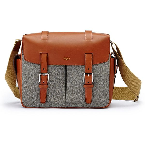 Bertoni1949     Traveler Messenger (9.770 RON) ❤ liked on Polyvore featuring men's fashion, men's bags, men's messenger bags, gold and mens messenger bags