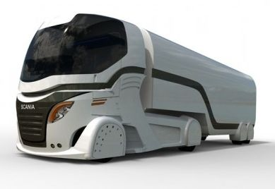 18 Wheeler Pictures Sleek Looking Scania Concept Sel Electric Hybrid Engined