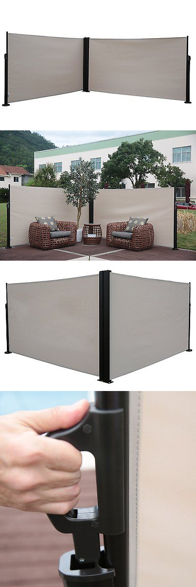 Screens And Room Dividers 31601: Abba Patio Retractable Double Folding  Screen Fence Privacy Divider,