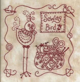 Picture of Stitchin' Wisdom Complete Handwork Fabric Packet