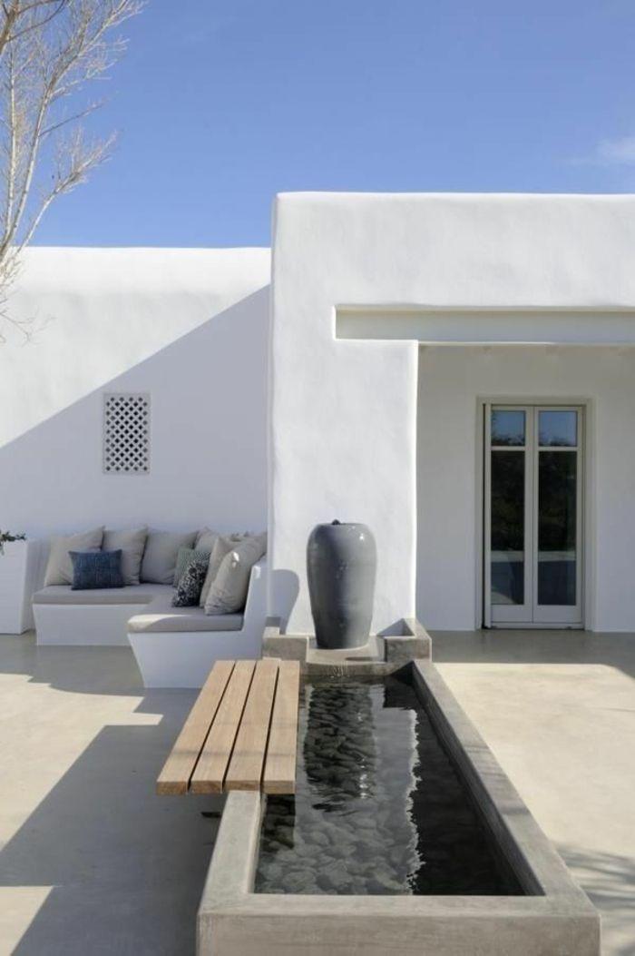 Piscina casa blanca