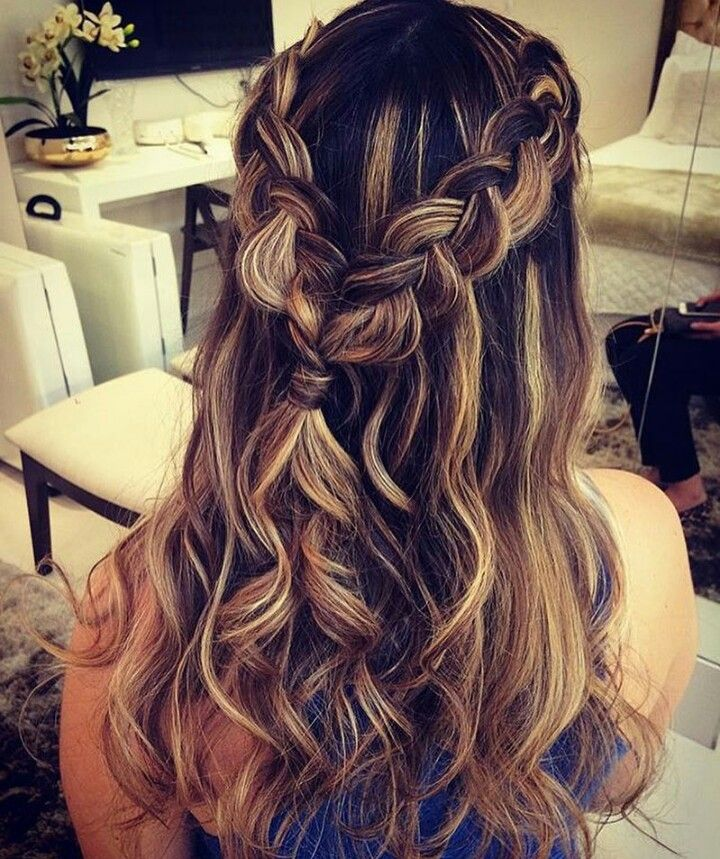 homecoming or prom look. Cute pony braid twist in 2019