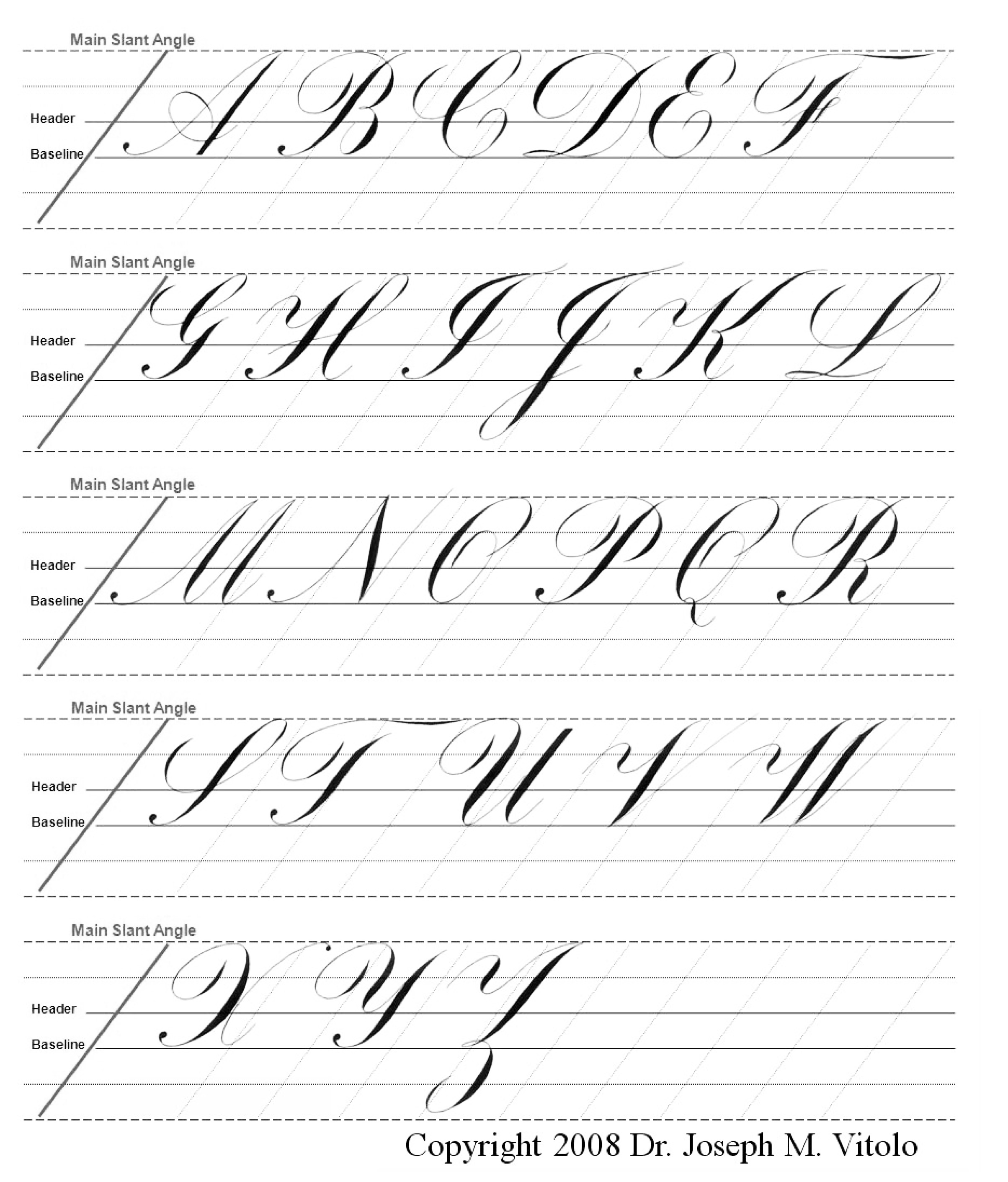 Copperplate Guidlines