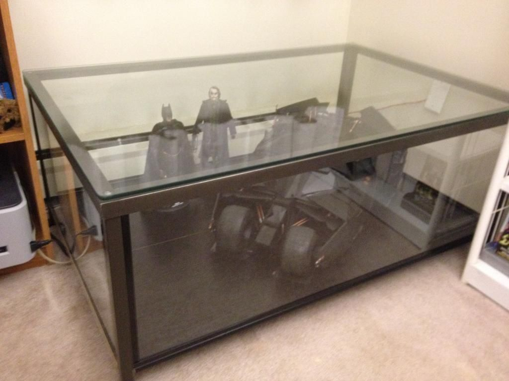 Display Case End Table Ikea Granas Coffee Table Become Awesome Display Case