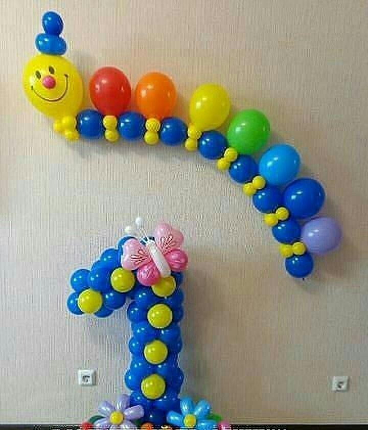 Gusano en globos globo pinterest decoraciones de - Bombas de cumpleanos ...