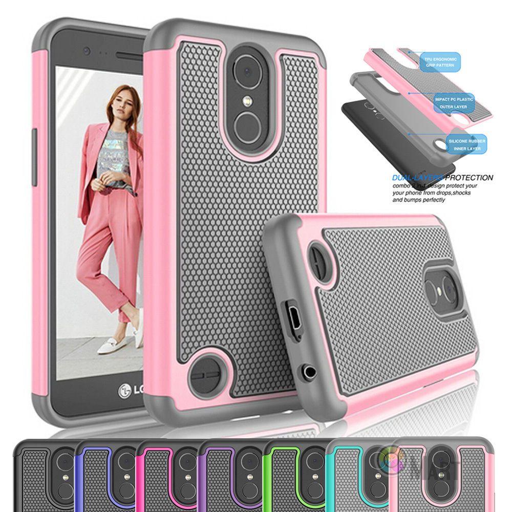 For Lg K20 Plus V V5 K10 2017 Phone Case Hybrid Shockproof 2in1 Brushed Armor Soft K8 Hardcase 192 34 Hard Cover Unbrandedgeneric