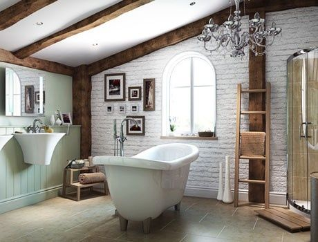 Bathrooms With Exposed Beams A Country Style