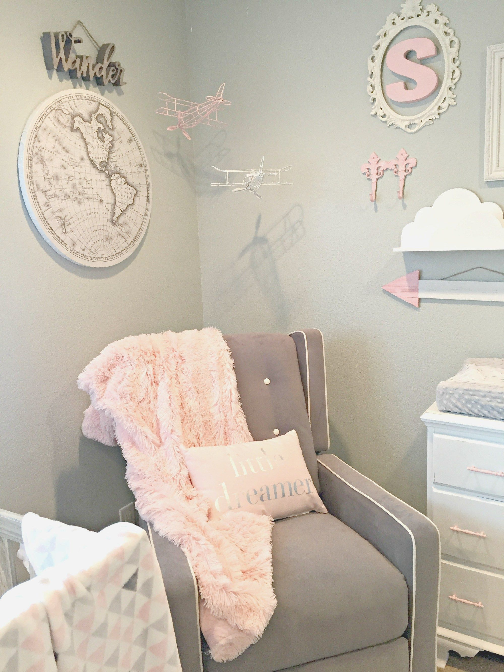 Adventure Travel Themed Nursery  Baby Girl