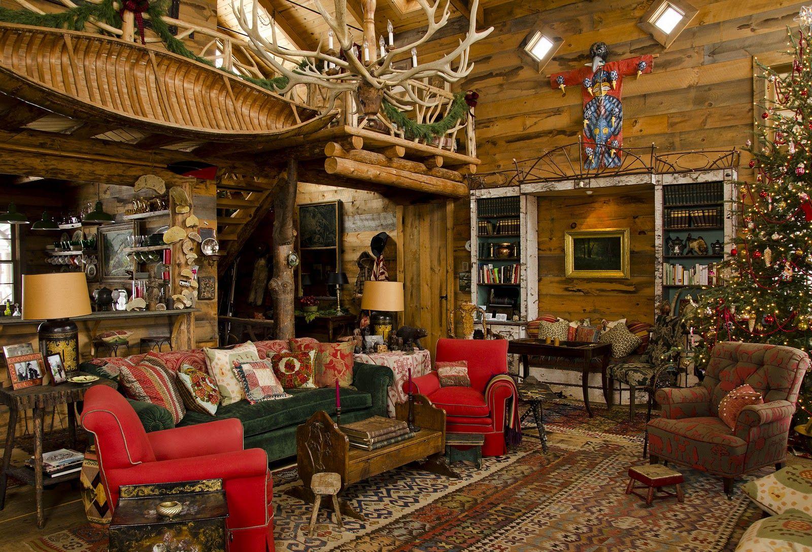 Christmas cabin interior - Adirondack Style Homes Interior House Design Plans
