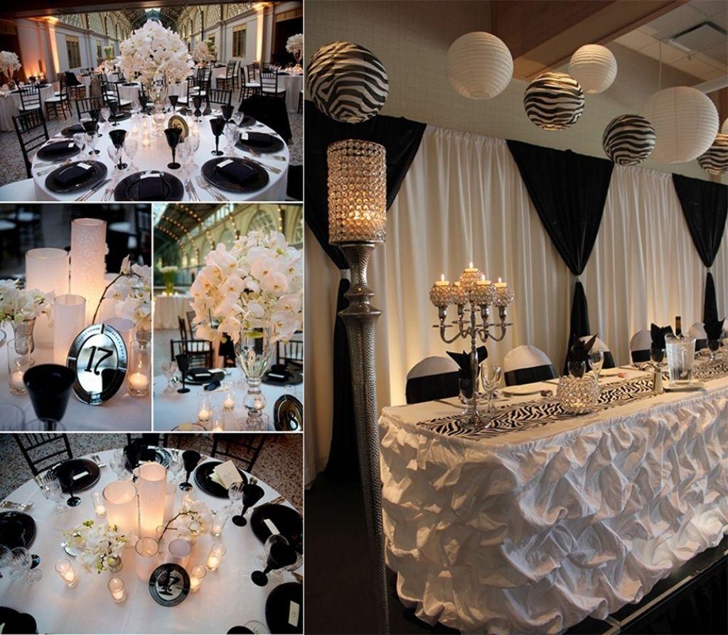 Decoration images for wedding  Black Wedding Decoration Ideas Black And White Wedding Decor Ideas