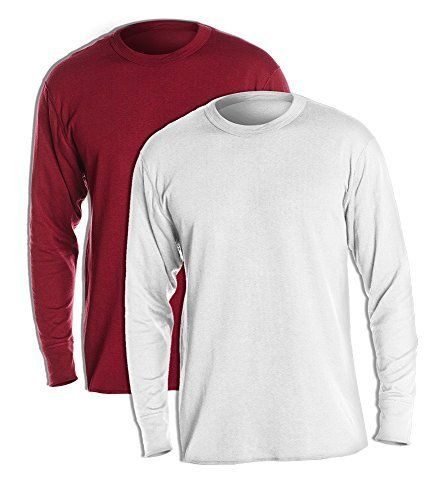47c1684a Duofold KMW1 Men's Midweight Thermal Crew Medium 1 Bordeaux Red 1 Winter  White ** Learn more by visiting the image link. #MensCampingClothing