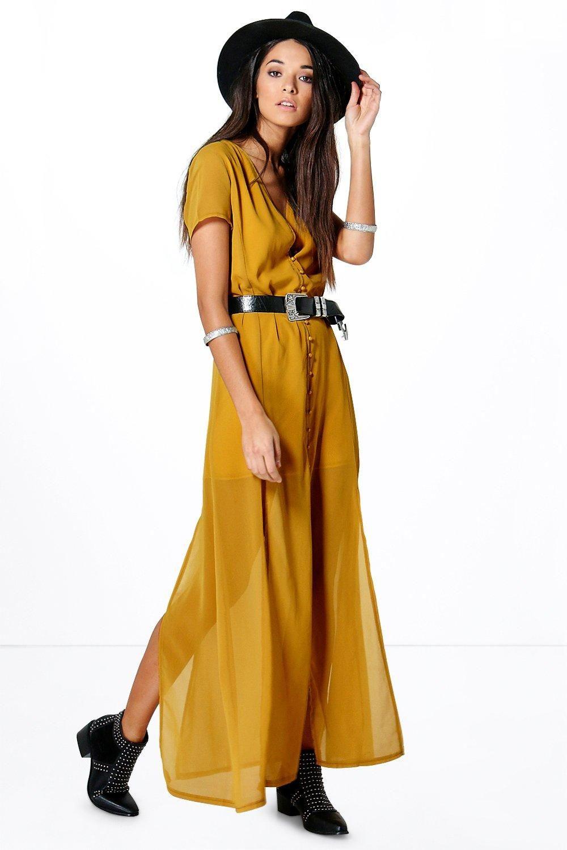 f3161462019392 Natalya Chiffon Button Through Sliced Maxi Dress at boohoo.com ...