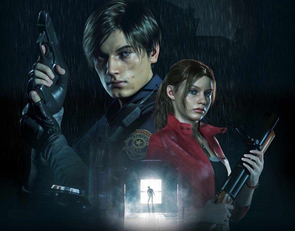 E3 Leon Claire Key Art Resident Evil 2 2019 Art Gallery Resident Evil Resident Evil 3 Remake Capcom