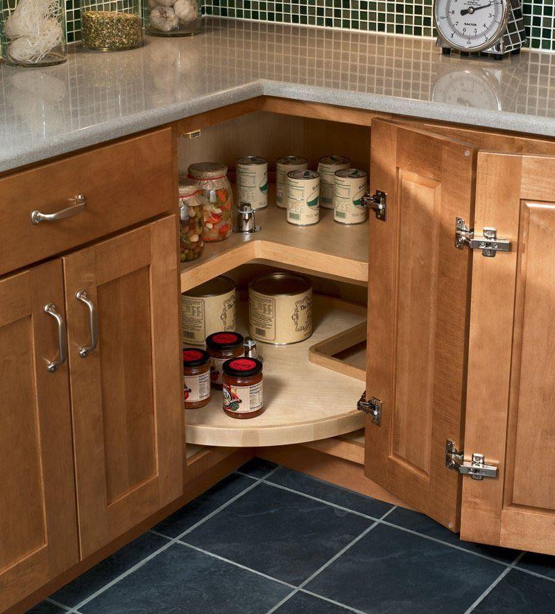 Easy reach wood lazy susan kraftmaid york house - Lazy susan kitchen cabinets ...