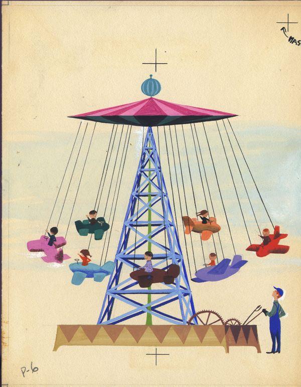 Original CHILDREN'S BOOK Art HOWDY DOODY in FUNLAND 1953 Type:Original Illustration Art Art Seiden 1923-2004 Circa:1953