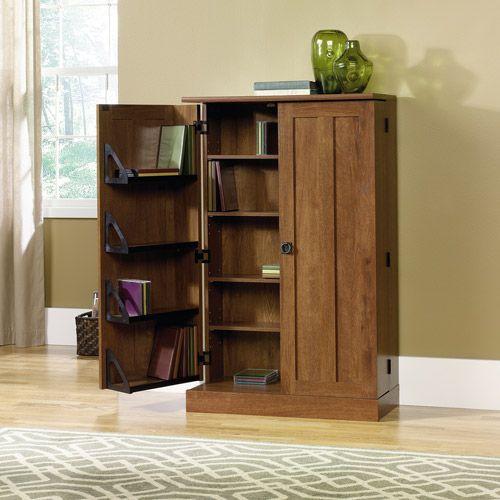 Genial Sauder August Hill Multimedia Storage Cabinet   Oiled Oak   Walmart.com