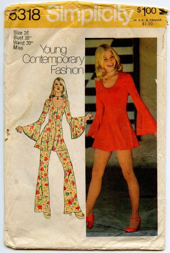 1970s Simplicity 5318 Vintage Sewing Pattern Misses Princess Seam ...