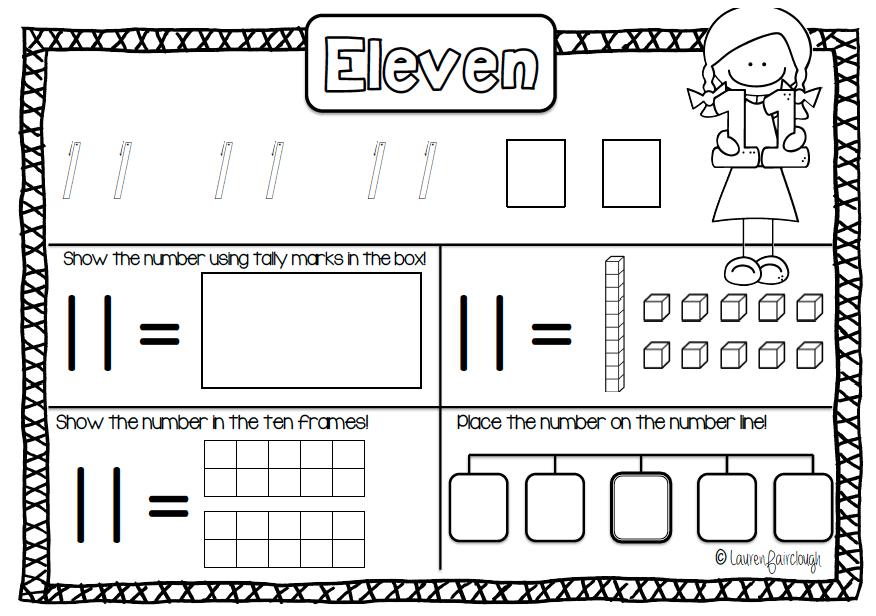 Number Practise Workbook 1 - 30   Math, Kindergarten and Students