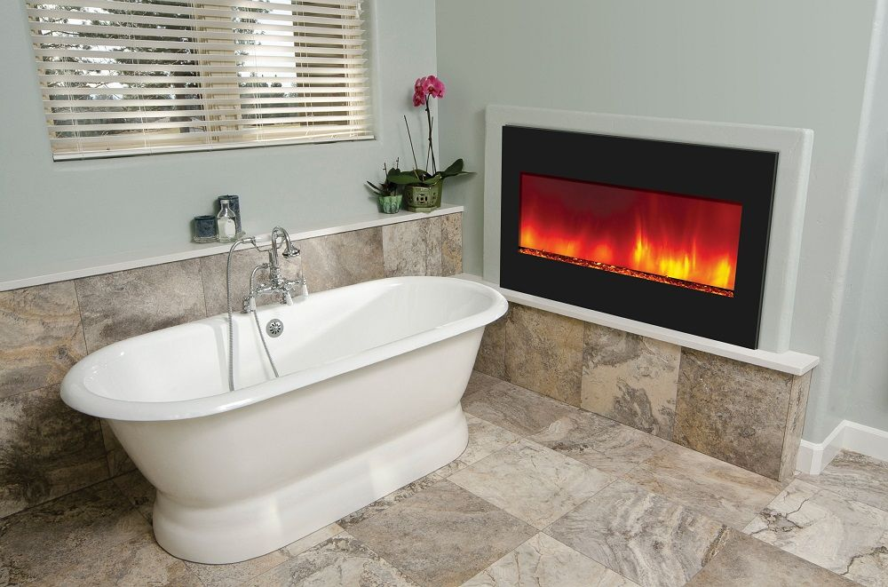 Delightful Amantii Built In Zero Clearance Electric Fireplace